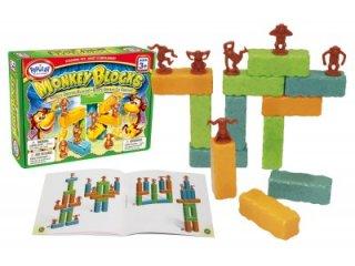 Monkey Blocks, Egyensúlyozó majom tömbök (a tömbökben eltérő helyen vannak a különböző súlyok, logikai, ügyességi játék feladatlapokkal, 3-99 év)