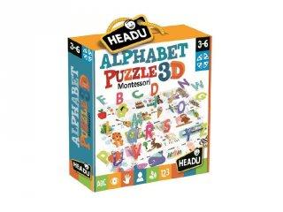 Montessori 3D puzzle, angol ABC (HED, 3-6 év)