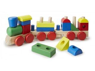 Montessori favonat, nagy elemekkel (572, Melissa&Doug, kreatív építőjáték kicsiknek, 1-3 év)