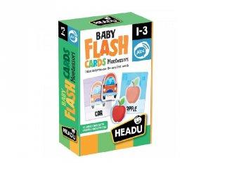Montessori figura kártyák, beszédfejlesztő puzzle babáknak, Flash Cards (HED, 1-3 év)