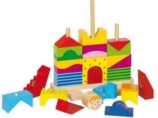 Montessori ház vagy vár (Goki, fa építőjáték, 2-5 év)