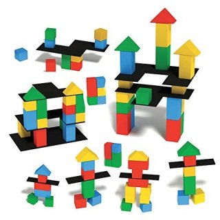 Montessori kreatív építkezés, 36 db-os fa bébijáték (HED, 2-4 év)