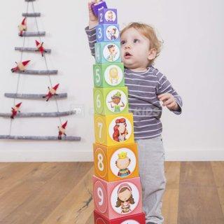 Montessori piramis, klasszikus mesék, bébi építőjáték (1-5 év)