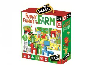 Montessori puzzle, Funny Farm bébi kirakó fa állatfigurákkal (HED, 2-4 év)