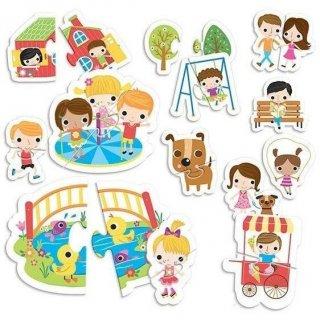 Montessori tapintós puzzle A Park, bébi kirakó (HED, 2-4 év)
