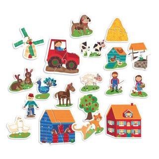 Montessori tapintós puzzle A Tanya, bébi kirakó (HED, 2-4 év)