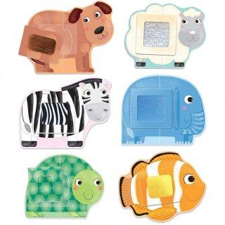Montessori tapintós puzzle Állatok, bébi kirakó (HED, 2-4 év)