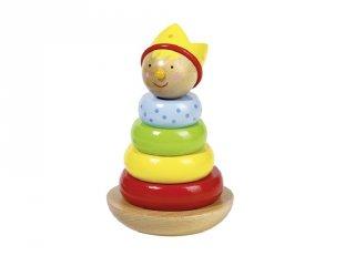 Montessori torony, Billegős herceg, fa készségfejlesztő játék (Goki, 1-3 év)
