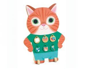 Motiváló cica (Djeco, 3241, jutalomkorongok a napi feladatokért, 4-8 év)