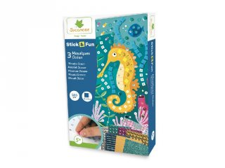 Mozaikkép készítés Óceán, kreatív szett (Sycomore, 5-8 év)