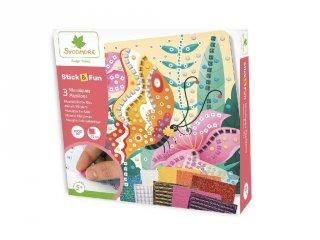 Mozaikkép készítés Pillangók, kreatív szett (Sycomore, 5-8 év)