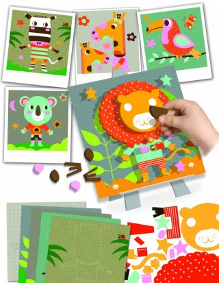 Mozaikkép készítés Szavanna, kreatív szett (CRE, 3-6 év)