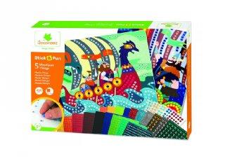 Mozaikkép készítés Vikingek, kreatív szett (Sycomore, 5-8 év)