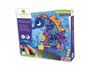 Mozaikkép készítő A tenger világa, kreatív szett (Sycomore, 3-7 év)