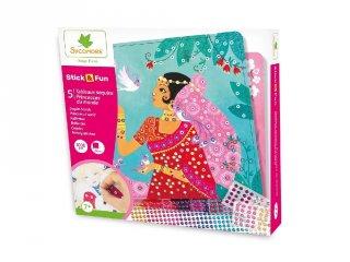 Mozaikkép készítő A világ hercegnői, kreatív szett (Sycomore, 6-10 év)