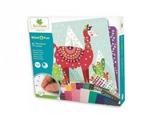 Mozaikkép készítő Lámák, kreatív szett (Sycomore, 5-10 év)