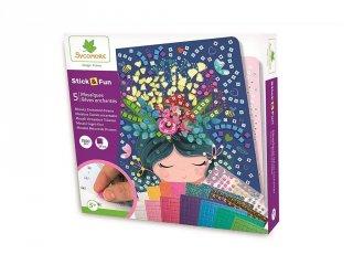 Mozaikkép készítő Varázslatos álmok, kreatív szett (Sycomore, 5-10 év)