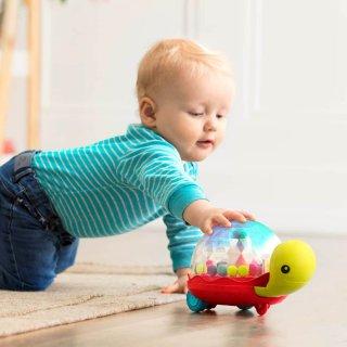 Multifunkciós tologatós teknős, mozgásfejlesztő bébijáték (B.Toys, 1-3 év)