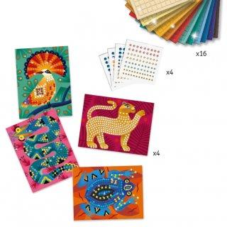 Művészeti műhely, A dzsungel mélyén mozaik készlet, Djeco kreatív szett - 9422 (7-13 év)