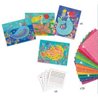 Művészeti műhely, A sellő éneke mozaik készlet, Djeco kreatív szett - 9423 (7-13 év)