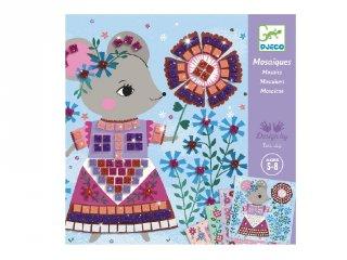Művészeti műhely, Lovely pets mozaikkép készítés, Djeco kreatív szett - 9425 (5-8 év)