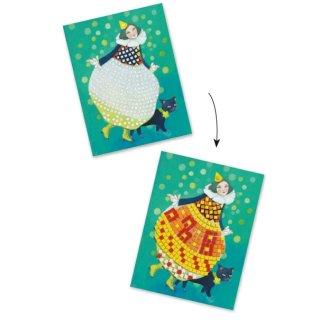 Művészeti műhely, Party ruhák mozaik készlet, Djeco kreatív szett - 9420 (6-10 év)