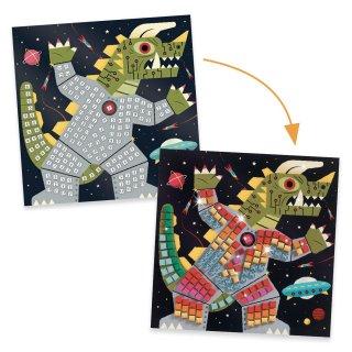Művészeti műhely, Space battle mozaikkép készítés, Djeco kreatív szett - 9424 (5-8 év)