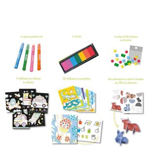 Művészeti műhely Varázslatos állatok, kreatív szett (SYC, 3-7 év)