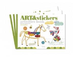 Művészi füzet Matricázzunk!, kreatív készlet (3-6 év)