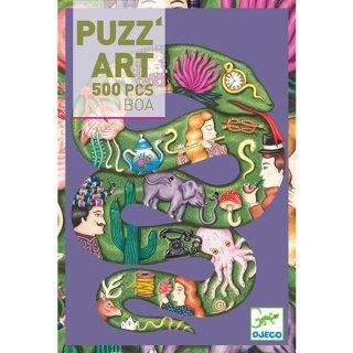 Művészi puzzle, Kígyó (Djeco, 7650, 350 db-os kirakó, 7-99 év)