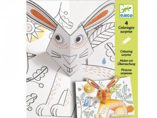 Művészi színező készlet, Nyuszi hopp (Djeco, 9639, kreatív képkészítő, 6-11 év)