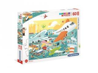 Nagy repülőtér maxi kirakó, 60 db-os puzzle (CLEM, 4-7 év)