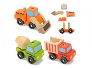 Nagyméretű, szétszerelhető munkagépek (3076, Melissa & Doug, 3 db montessori fajáték, 1-5 év)