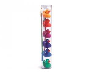 Nagyméretű szivárványos gumikacsák (Djeco, 2005, horgászós ügyességi fürdőjáték, 0-4 év)