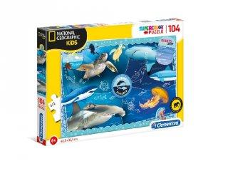 National Geographic Óceánkutató Supercolor kirakó, 104 db-os puzzle (CLEM, 5-7 év)