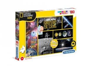National Geographic Űrkutató Supercolor kirakó, 180 db-os puzzle (CLEM, 7-10 év)