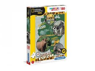 National Geographic Vadvilági expedíció Supercolor kirakó, 180 db-os puzzle (CLEM, 7-10 év)