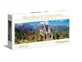 Neuschwanstein kastély panoráma puzzle, 1000 db-os kirakó (CLEM, 9-99 év)