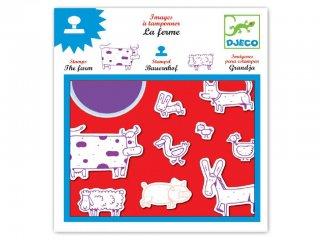 Nyomda, A farm állatai (Djeco, 8809, kreatív készlet, 4-8 év)