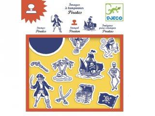 Nyomda, Kalózok (Djeco, 8917, kreatív készlet, 4-8 év)