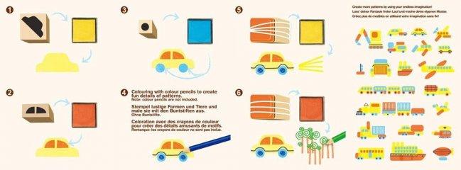 Nyomda készlet képekkel Járművek, kreatív szett (Avenir, 5-10 év)