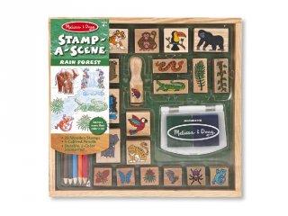 Nyomdakészlet, Dzsungel állatok (Melissa&Doug, 2423, 26 db-os kreatív szett, 4-9 év)