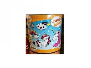 Nyomdakészlet festékpárnával, Egyszarvúak (Aladine, 85145, 10 db-os kreatív készlet, 3-7 év)