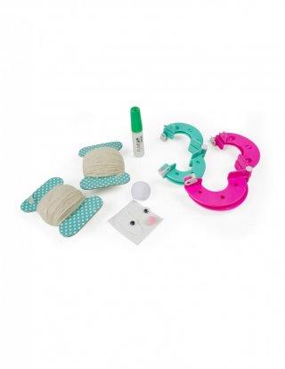 Nyuszis pom-pom készítő, kreatív készlet (6-14 év)