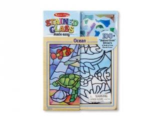 Óceán állatai, ólomüveg képkészítő Melissa&Doug, kreatív készlet (5-10 év)