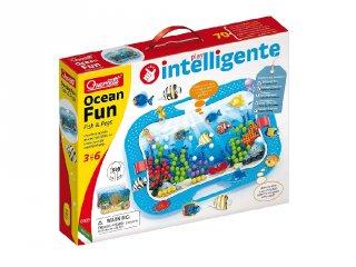 Óceán és halak pötyi készlet, Quercetti kreatív képalkotó játék (0969, 3-6 év)