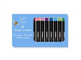 Olajpasztell kréta, klasszikus színek (Djeco, 9748, kreatív készlet, 5-12 év)