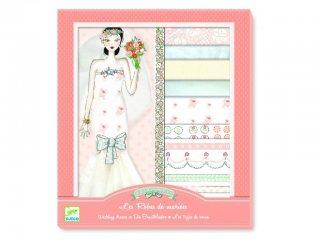 Öltöztetős játék, Menyasszonyi ruhák (Djeco, 9822, kreatív ruhatervező játék, 7-15 év)