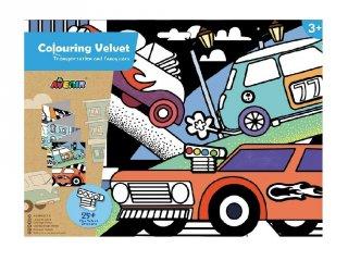 Óriás bársonyszínező matricákkal Közlekedés, kreatív készlet (Avenir, 3-7 év)