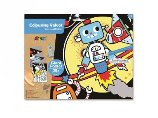 Óriás bársonyszínező matricákkal Világűr és robotok, kreatív készlet (Avenir, 3-7 év)